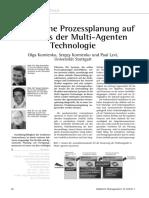 Dynamische Prozessplanung auf der Basis der Multi-Agenten Technologie