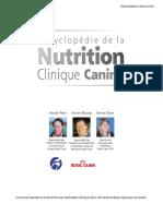 NUTRICION CANINA - Encyclopedie de La Nutrition Clinique Canine