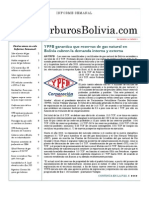 Hidrocarburos Bolivia Informe Semanal Del 04 Al 10 Abril 2011