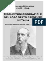 Gerolamo Boccardo Degli Studi Geografici e Del Loro Stato Presente in Italia Archivio Storico Italiano