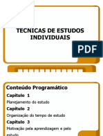 SLIDES DE TÉCNICA DE LEITURA E ESTUDOS INDIVIDUAIS