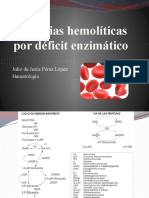 Anemias hemolíticas por déficit enzimático