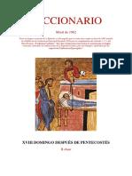 XVIII Domingo Después de Pentecostés. Leccionario