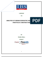 ANALYSIS OF INDIAN DERIVATIVE MARKET AND PORTFOLIO CONSTRUCTION