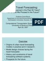 SI-5141 & SJ-5122 Urban Travel Forecasting History