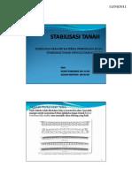 Stabilisasi Tanah Dengan Semen (Presentasi STJR-ITB)