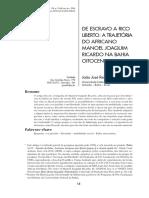 DE ESCRAVO RICO A LIBERTO
