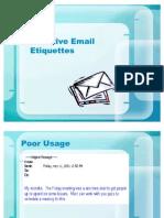 Email - Etiquettes