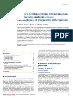 Tumeurs hémisphériques (corrélation anatomo clinique dc différentiel)