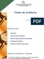Aula 9 - Testes de Auditoria