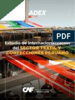 Estudio del sector textil y confecciones ADEx