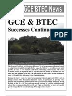 GCE-BTEC News - May 2010