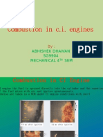 Combustion in C.I. Engines
