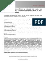 Embalagens Sustentáveis o Estado Da Arte Da Produção de Teses e Dissertações Nos Cursos De