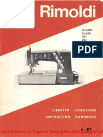 Rimoldi 261, 263, 264, 267, 268 Instruction Manual