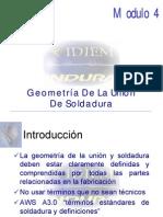 geometría de la unión de soldadura