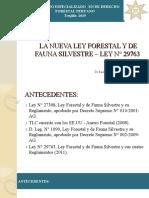 LA NUEVA LEY FORESTAL Y DE FAUNA SILVESTRE – LEY N° 29763
