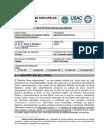 silabo Derecho penal internacional 2021 sección martes