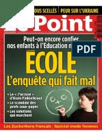 Ecole, l'Enquete Qui Fait Mal (Le Point, Mars 2014)