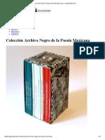 Colección Archivo Negro Malpaís Ediciones