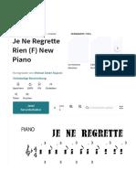 Je Ne Regrette Rien (F) New Piano   PDF