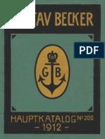 Gustav Becker Hauptkatalog Main Catalog 1912 No 200