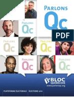 Bloc Québécois 2011 Election Platform (French)