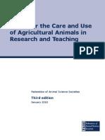 Ag_Guide para uso de animais_3rd_ed 2010