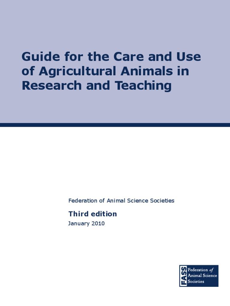 ag guide para uso de animais 3rd ed 2010 veterinary medicine cloning