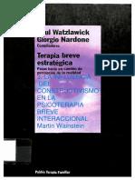 "Wainstein, M. (2000). ""La Influencia Del Constructivismo en La Psicoterapia Breve Interaccional"""