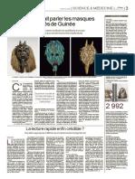 La Lecture Rapide Est-elle Enfin Crédible (Le Monde, 2014)