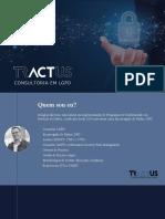 Apresentação da Lei Geral de Proteção de Dados, LGPD