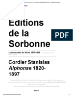 Les immortels du Sénat, 1875-1918 - Cor...se 1820-1897 - Éditions de la Sorbonne
