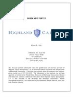 Highland 2011 ADV Part 2a Brochure