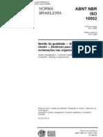 NBR ISO 10002 - 2006 - Gestao da qualidade - satisfacao do cliente...