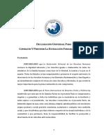Declaración Universal para combatir y prevenir la extracción forzada de órganos