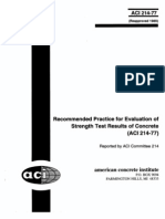 ACI 214-77 Recomended Practice for Evaluation of Strangth Test Results of Concrete 1997