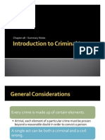 Chapter 08 Introduction to Criminal Law - Summary Notes