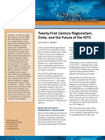 Twenty-First Century Regionalism, Doha, and the Future of the WTO