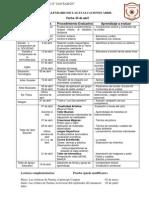 calendario de evaluaciones 7º Bas.