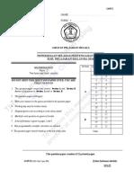MATHS SPM PAPER  2 QUESTIONS