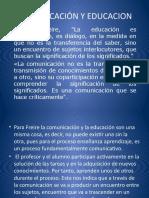 Comunicación y Educacion II