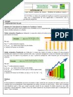 ATIVIDADE 10- 8º ano- Mat- Organização dos dados de uma variável contínua em classes Medidas de tendência central e Medidas de dispersão-Professor