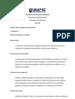 Práctica sobre Reglamento Académico(Samuel Encarnacion)