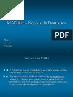 Aula 1a - Dados, variáveis e observações