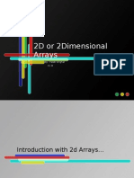 2D or 2 Dimensional Arrays