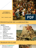 INTRODUCCIÓN A LA  SOCIOLOGIA UM Sesión 1