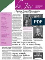 @John Jay Newsletter, March 30, 2011