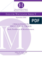 Challenges in IDE Clinical Trials
