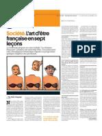 L'Art d'Être Française en 7 Leçons (Courrier International, Juillet 2015)
